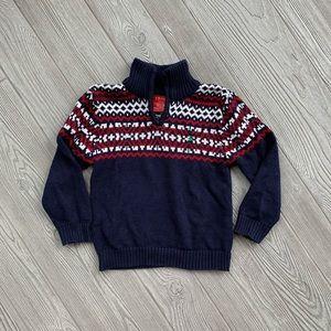 🎄 Izod Navy Blue Boys Christmas Holiday Sweater